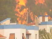 Muğla'da yangın yazlık villalara sıçradı