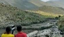 Ağrı Dağı'nın zirvesinde eriyen buzullar, yerleşim alanlarına çamur ve taş getiriyor