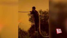 İbrahim Çelikkol, yangın bölgesine gitti