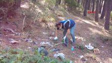 İstanbul'da Aydos ve Teferrüç Tepe ormanlarında cam ve atık parçaları toplandı