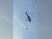 Jandarma Teşkilatı bünyesindeki Sikorsky helikoptere su sepeti takıldı
