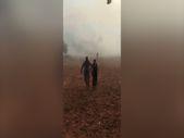 MSB, yangında mahsur kalan vatandaşı kurtardı