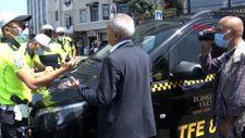Taksim'de taksimetreyi açmadan yolcu taşıyan şoföre ceza