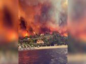 Yunanistan'daki Evia adası yanıyor
