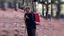Antalya'da yaşlı kadın orman ekipleri için erzak taşıdı