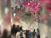 Meksika'da rodeo sırasında boğa seyircilere saldırdı