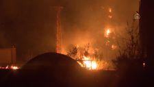 Milas'taki termik santrale sıçrayan yangın kontrol altına alındı