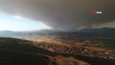 Muğla'da yükselen dumanlar gökyüzünü griye boyadı