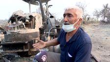 Yangına müdahale eden çiftçinin yanan traktörü devlet tarafından yenilenecek
