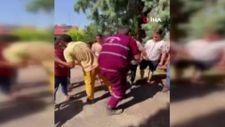Denizli'de yangın işçilerini kurbanla karşıladılar