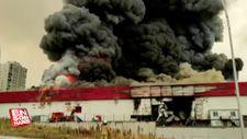 Esenyurt'ta lojistik firmasında yangın çıktı