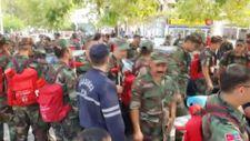 200 kişilik Azerbaycan ekibi Çine'ye geldi