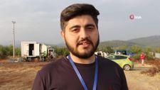 Azerbaycanlı gazeteci, balayını bırakıp Türkiye'ye yangına koştu