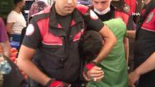 Kağıthane'de semt pazarında polisle şüpheli arasında kovalamaca