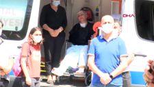 Manisa'da kızının cenazesini ambulanstan izledi
