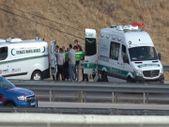 Balıkesir'de yolcu otobüsü devrildi