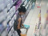 Esenyurt'ta sepetini gıda ve bebek beziyle dolduran kadın, marketten kaçtı