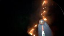 Muğla'da gece görüşlü helikopterler yangına müdahale ediyor
