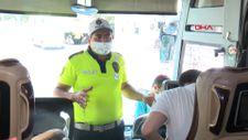 Şehirlerarası yolcu otobüslerinde denetimler yapıldı