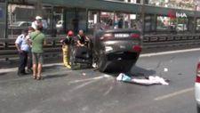 Esenyurt'ta otomobil takla attı