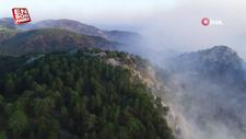 Köyceğiz'deki yangın, Sandras Dağları'nı dumanla kapladı