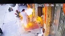 Çin'de patlayan etil alkol kadını ve çocuğunu yaktı