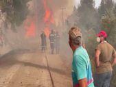 Eğriboz Adası'nda yangını söndürme çalışmaları devam ediyor