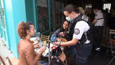 Fransa'da polisler, kafelerde koronavirüs kartı kontrolü yaptı