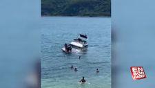 Sarıyer'de batmaya başlayan teknedeki 8 kişi kurtarıldı