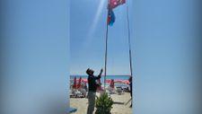 Alanya'daki Afgan bayrağını indirdiler