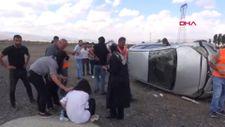 Erzurum'da sürücü adayı kaza yaptı