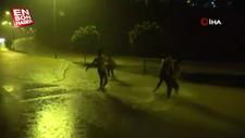 Karabük'te sağanak yağışta eğlendiler