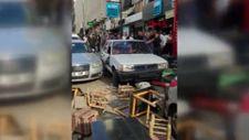 Ankara'da fren yerine gaza basan sürücü caddede oturanlara çarptı