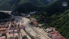Bozkurt'ta selin yol açtığı tahribat havadan görüntülendi