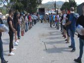 Sinop'ta yardım için insan zinciri yapıldı