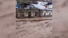Sarıkamış'ta bir köyü sel bastı