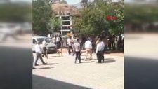 Şırnak'ta bahçe duvarının yıkımı sırasında patlama