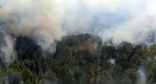 Antalya'nın Akseki İlçesinde ormanlık alanda yangın çıktı