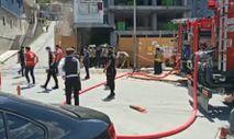 Beyoğlu'nda inşaat deposunda yangın