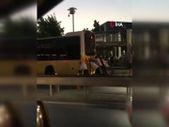 İstanbul'da vatandaşlardan otobüs arızasına tepki