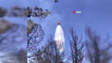 Pamukkale'de yangın helikopterinin boşalttığı suyun altında kaldı