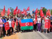 Azeri alev savaşçıları uğurlandı