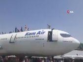 Kabil Havaalanı'ndaki kaos anları