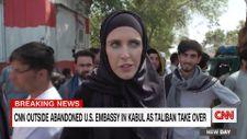 Kabil'in tamamen ele geçirilmesinden sonra CNN  muhabiri