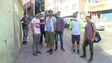 Kağıthane'de göçmenlerin iş bekleyişi