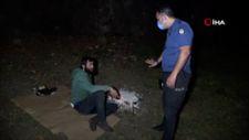 Samsun'da, yaktığı ateş söndürtmemek için direndi