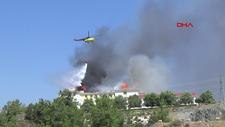Antalya'da yurt çatısında çıkan yangın söndürüldü