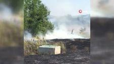 Bilecik'te traktörüyle ot biçerken yangına sebep oldu