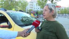 Gaziantep'te şoför eşi ölünce, taksi kullanmaya başladı