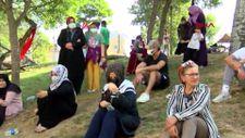 Eyüpsultan'da İBB'nin yıkacağı parkta eylem